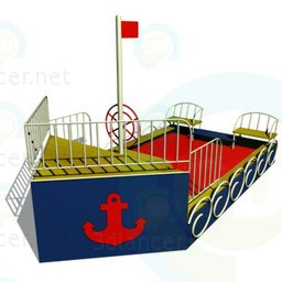 3d modeling Playground-ship model free download