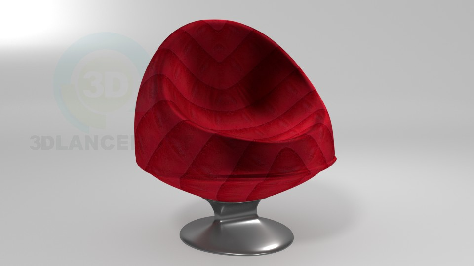 3d model Sillón - vista previa