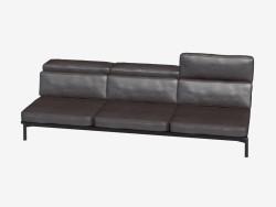 sofás de cuero triple