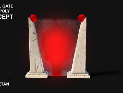 3D portal gate Concept - Low Poly