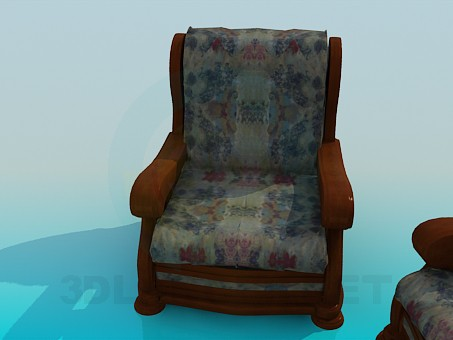 3d model Armchair and Sofa - preview