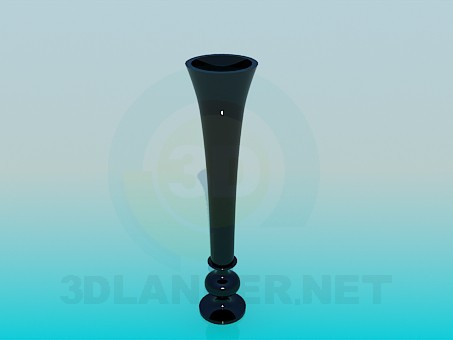 3d model A narrow vase for flower - preview