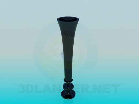 3d модель Узкая ваза для цветка – превью