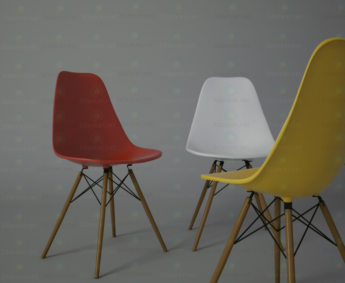 Eames chair paid 3d model by Sonya13 preview