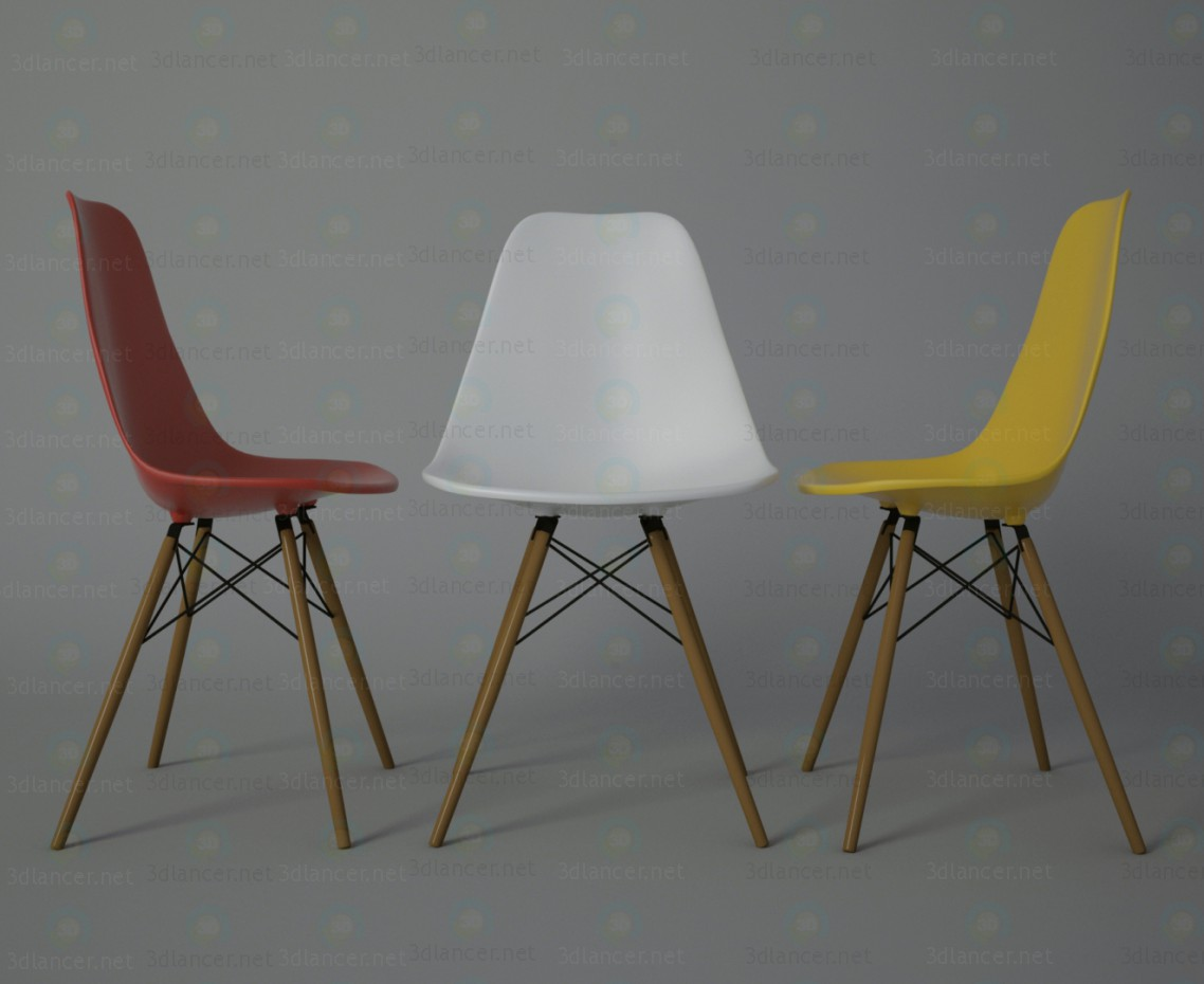 3d Eames chair model buy - render