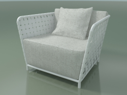 Armchair street InOut (801, White Lacquered Aluminum)