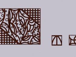 Ажурная деревянная панель