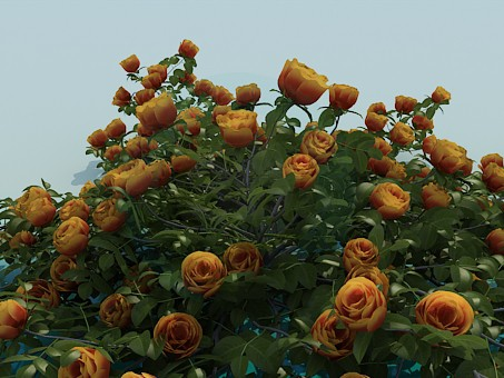 3d model Artificial flowers - preview