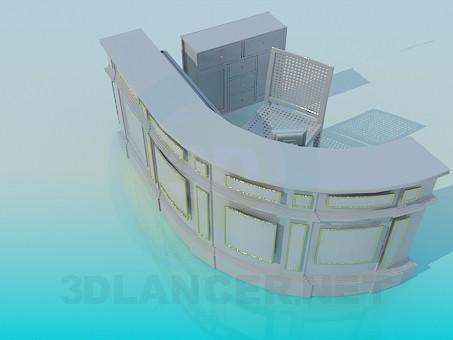 3d модель Reception – превью