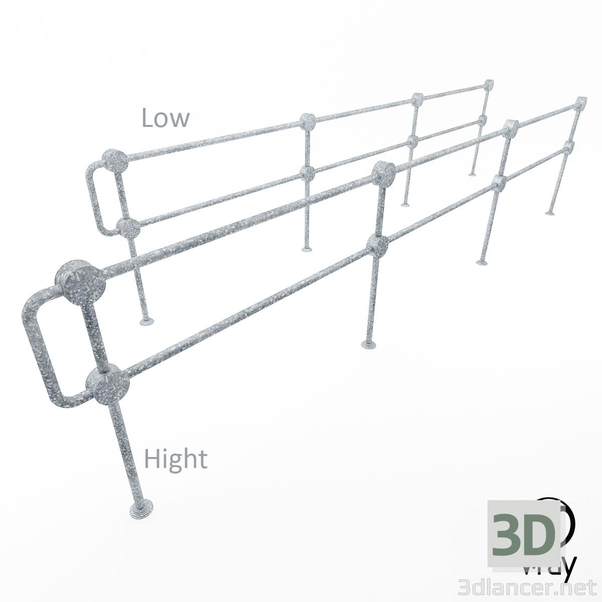 3d Пішохідний огорожу ПО-2 модель купити - зображення