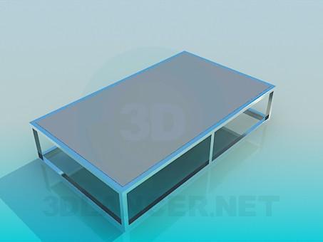 3d модель Низкий стол – превью