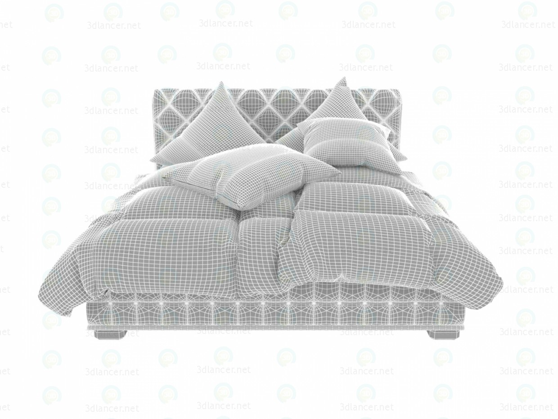 Terciopelo marrón cama 3D modelo Compro - render