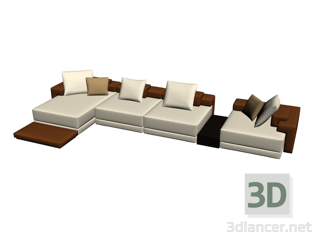 1d4660b312ae 3d model Sofa Domino composition 2 - preview