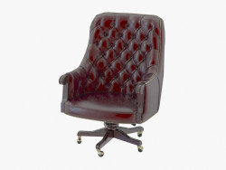 Office chair with leather upholstery 519