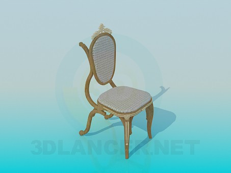 3d model Chair with baroque - preview