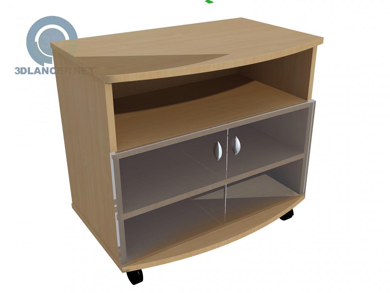 modelo 3D Soporte de la TV - escuchar
