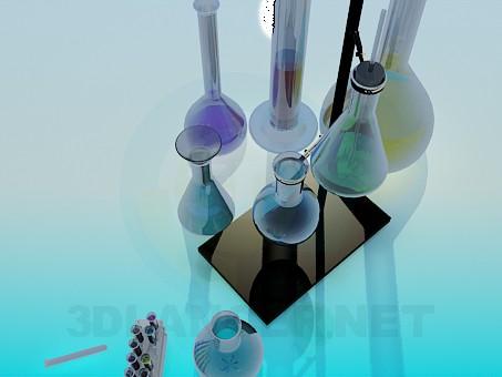 modelo 3D Un conjunto de tubos - escuchar
