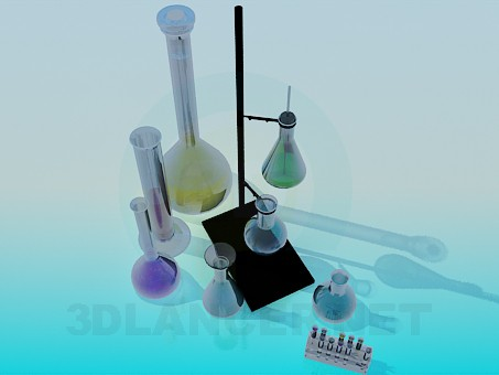 3d model A set of tubes - preview