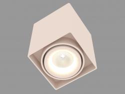 Накладной потолочный светодиодный светильник (DL18610_01WW-SQ Champagne)
