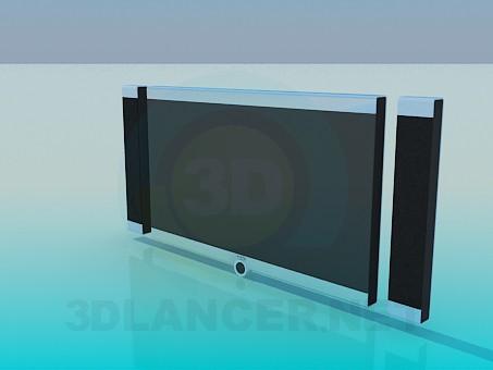 modelo 3D Cine en casa - escuchar