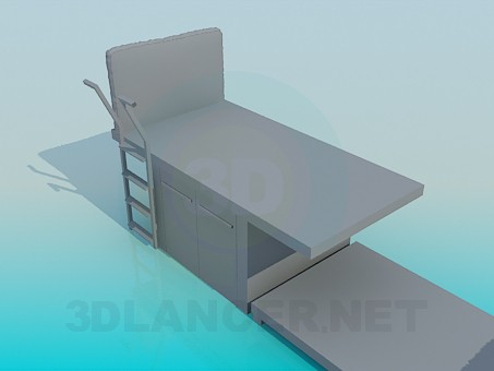 3d model Bunk bed for children - preview