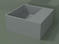 Countertop washbasin (01UN11102, Silver Gray C35, L 36, P 36, H 16 cm)