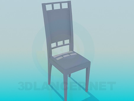 3d model Chair with an elongated backrest - preview