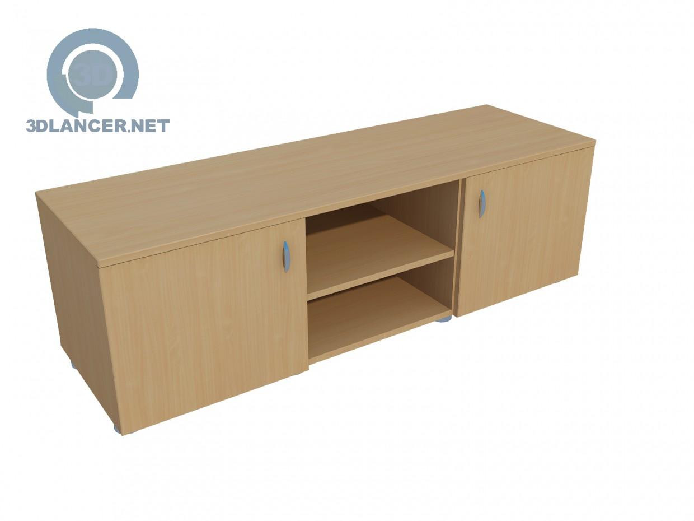 3d modeling Wide TV stand model free download