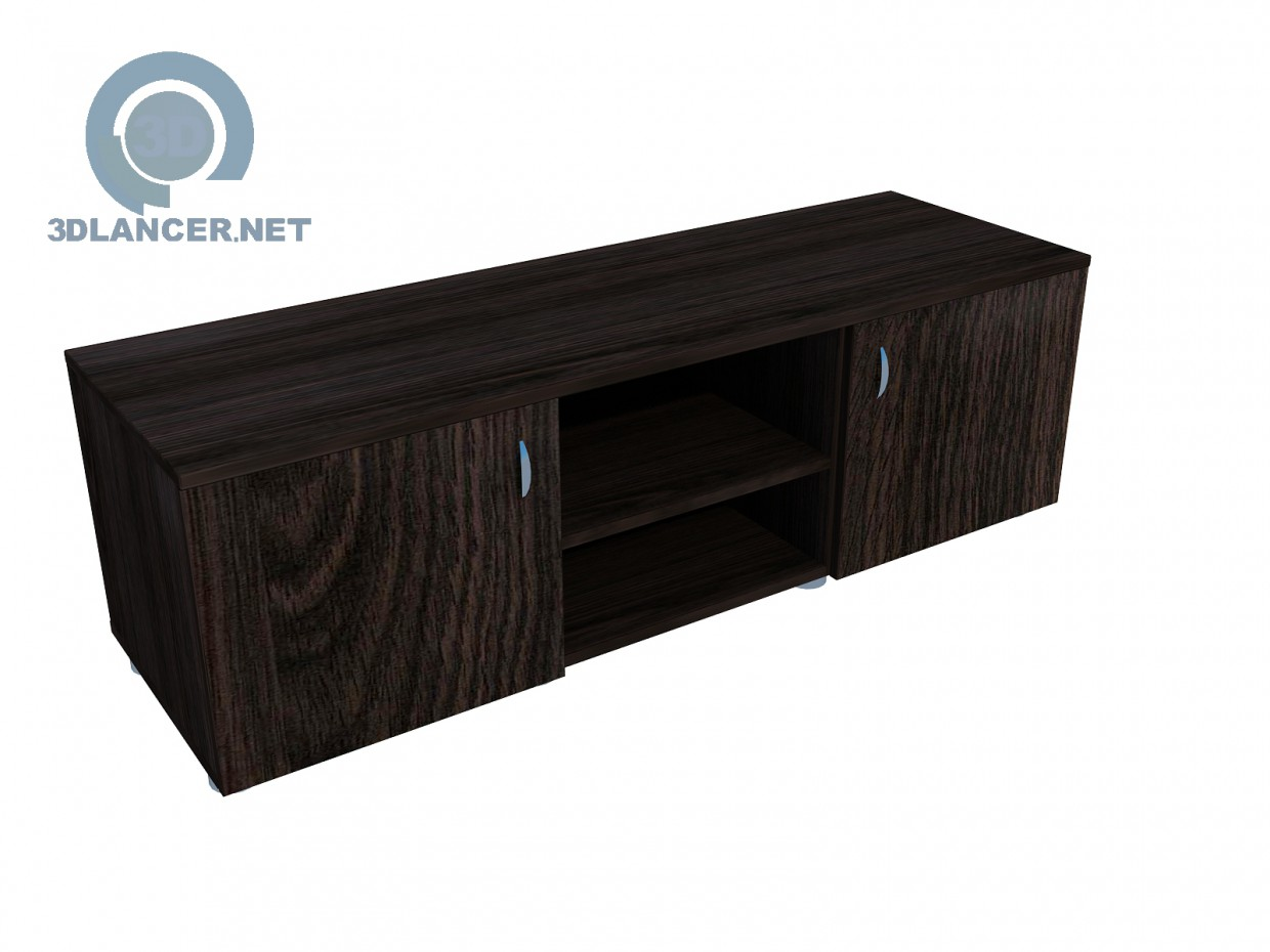 3d model Wide TV stand - preview