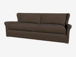 Sofa in classic style, double (dark)