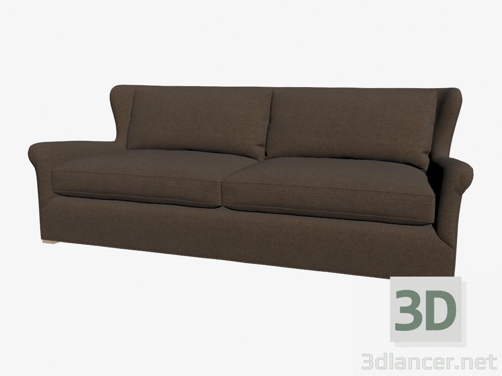 Modelo 3d sof en estilo cl sico doble oscuro del for Sofas estilo clasico
