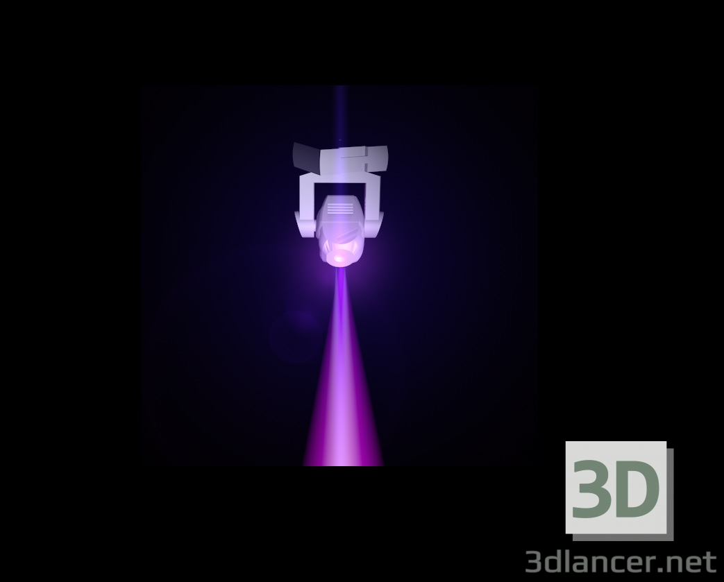 3d model moving head - preview