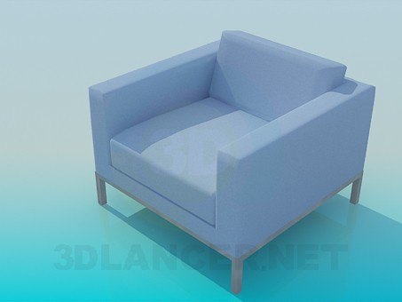 3d model Armchair with low backrest - preview