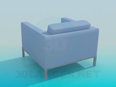3d модель Крісло з низькою спинкою – превью