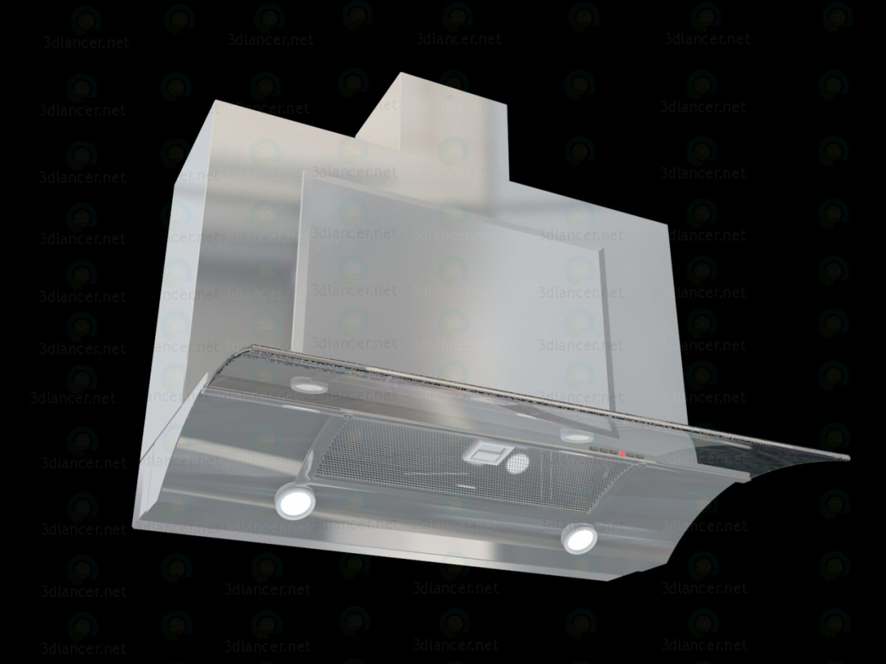 Cooker Hood Elica Glide SoftIX A-60 paid 3d model by ukka preview