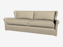 Sofa in classic style, double (light)