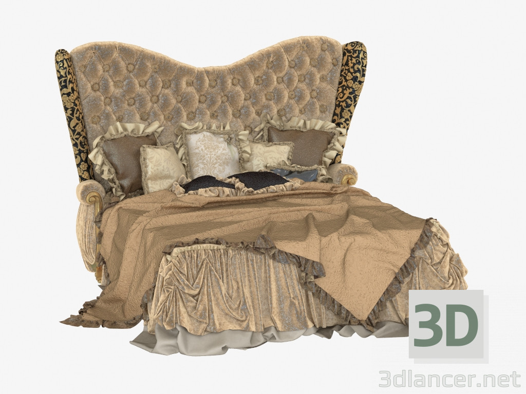 3d model Double bed in classic style 570 - preview