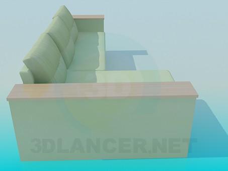 3d модель Прямоугольный диван – превью