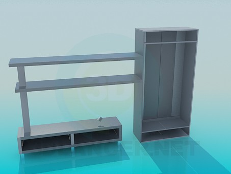 3d model The furniture in the hallway - preview