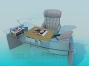Рабочее место - стол и кресло