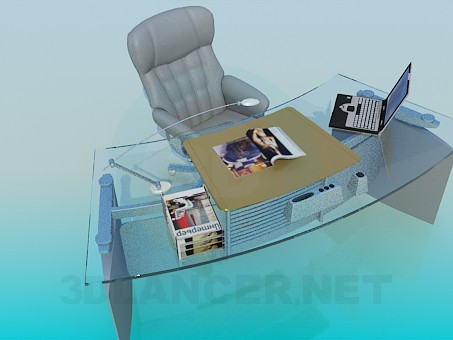 3d model Work-table and armchair - preview