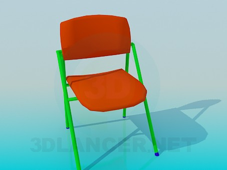 3d model Chair for students - preview