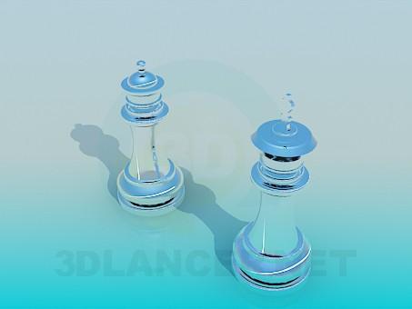 3d модель Сувенирные шахматы – превью