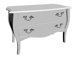 Commode Romantic Shiny White