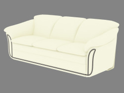 Classic leather sofa with sleeper