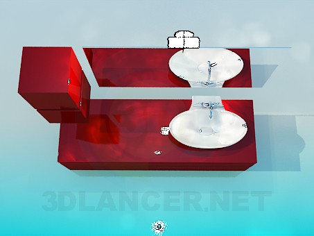 3d modeling Furniture under the wash basin model free download