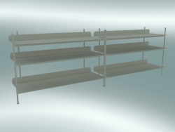 Compilazione del sistema rack (configurazione 6, grigio)