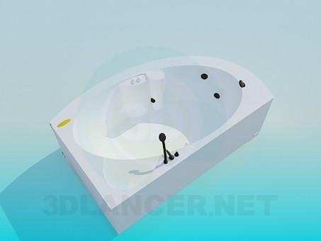 3d modeling Corner bath-tub model free download