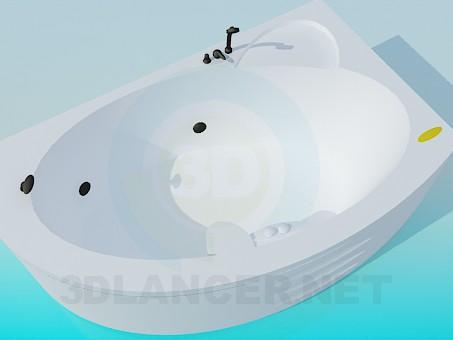 3d модель Кутова ванна-джакузі – превью
