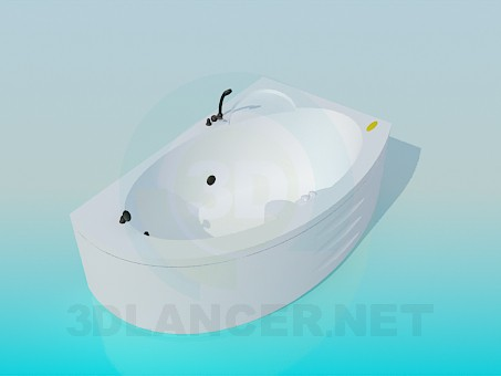 3d model Corner bath-tub - preview